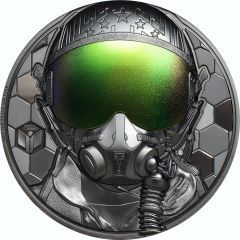 2020 3 oz Real Heroes Fighter Pilot Silver Proof Coin