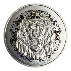 2020 5 oz Roaring Lion Silver Coin - High Relief