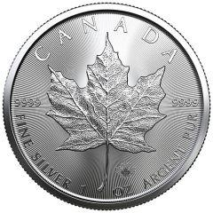 2020 1 oz Canadian Silver Maple Leaf Coin BU