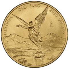 2020 1/10 oz Mexican Gold Libertad Coin (BU)