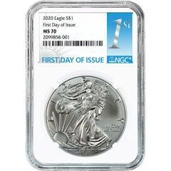 2020 NGC MS-70 First Day Of Issue American Silver Eagle