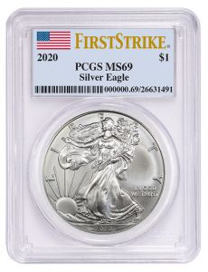 2020 PCGS MS-69 First Strike American Silver Eagle