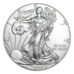 2020 American Silver Eagle Coin BU