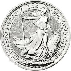 2020 1 oz Silver Britannia Coin BU