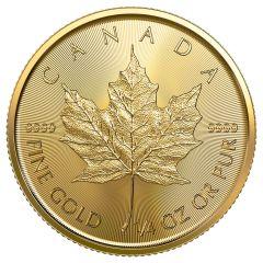 2021 1/4 oz Canadian Gold Maple Leaf Coin BU