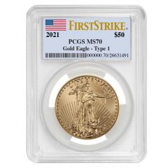 2021 1 oz PCGS MS-70 FS American Gold Eagle Coin