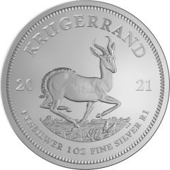 2021 South African Krugerrand Silver 1 oz Coin