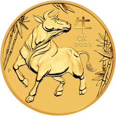 2021 1 oz Year of the Ox Gold Coin - Perth Mint Lunar Series III