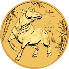 2021 1/10 oz Year of the Ox Gold Coin - Perth Mint Lunar Series III