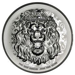 2021 5 oz Roaring Lion Silver Coin - High Relief