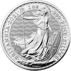 2021 1 oz Silver Britannia Coin BU