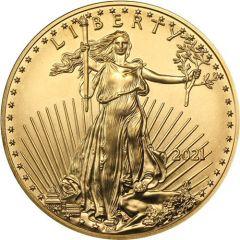2021 1/10 oz American Gold Eagle Coin BU