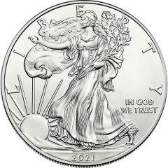 2021 1 oz American Silver Eagle Coin BU