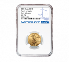 2021 1/4 oz NGC MS-70 ER American Gold Eagle Coin