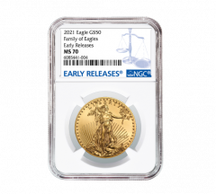 2021 1 oz NGC MS-70 ER American Gold Eagle Coin