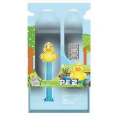 30g Rubber Ducky PEZ Dispenser w/ Silver Wafers (PAMP Suisse)