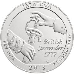 2015 Saratoga 5 oz Burnished Silver Coin - America The Beautiful