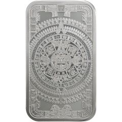 5 oz Aztec Calendar Silver Bar