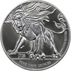 2019 5 oz Roaring Lion Silver Coin - High Relief