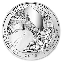 2015 Blue Ridge Parkway 5 oz Silver Coin - America The Beautiful