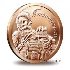 2015 Silver Shield Consumerism - Santa Slave 1oz Copper