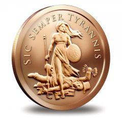 2015 Silver Shield Sic Semper Tyrannis 1oz Copper