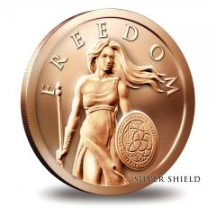 2015 Silver Shield Standing Freedom 1oz Copper
