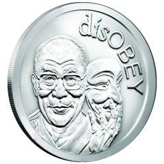 2017 Silver Shield Dalai Lama MiniMintage 1 oz Silver Round - disOBEY Series