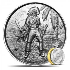 2 oz Privateer El Capitan Ultra High Relief Silver Round