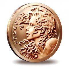 2015 1 oz Silver Shield Freedom Girl Copper Round