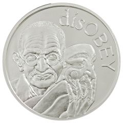 2017 Silver Shield Gandhi MiniMintage 1 oz Silver Round - disOBEY Series