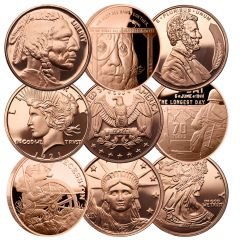 1 oz Copper Round - Random Design