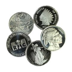 1 oz Silver Rounds - Generic