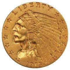 $2.50 Indian Quarter Eagle Gold Coin (VF+) - Random Year