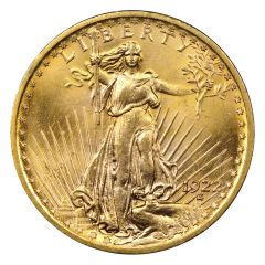 $20 Saint Gaudens Double Eagle Gold Coin  (VF+) - Random Year