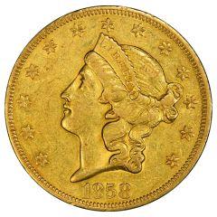 $20 Liberty Double Eagle Gold Coin (VF+) - Random Year