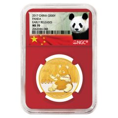 2017 30 Gram Chinese Gold Panda NGC MS-70 Early Release Red Core