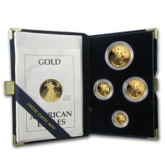 1990 American Gold Eagle Proof Set - Includes Original Mint Box and COA