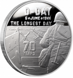 Heroes SDWC D-Day 1 oz Silver Proof in Collector's Box .999
