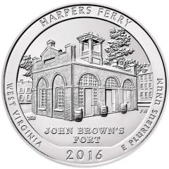 2016 Harpers Ferry ATB 5 oz Silver - America The Beautiful