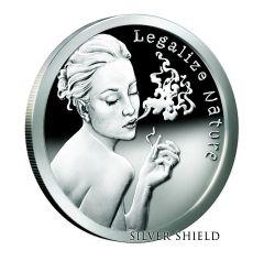 2015 Silver Shield Legalize Nature 1 oz Silver - Proof in Collector's Box