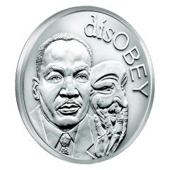 2017 Silver Shield Martin Luther King Jr. MiniMintage 1 oz Silver Round - disOBEY Series