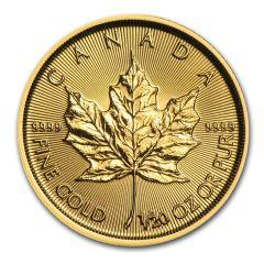 2017 1/20th oz Canadian Gold Maple Leaf BU