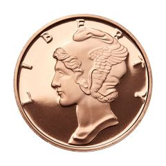 Mercury Dime 1 oz Copper Round - Osborne Mint