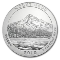 2010 5 oz Silver ATB - Mount Hood America The Beautiful