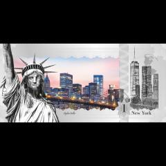 2017 Cook Islands 5 Gram Silver Banknote (New York Skyline Dollar)