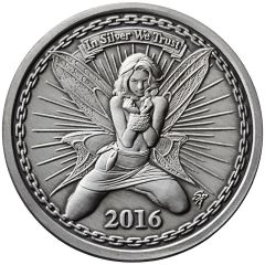 Alyx the Fairy | Antiqued 1 oz Silver Proof | Numbered Rim | Mintage of 2,500!