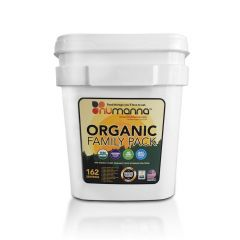 NuManna Organic Food Storage Family Pack - 162 Servings