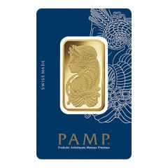 1 oz Pamp Suisse Lady Fortuna Gold Bar - In Assay