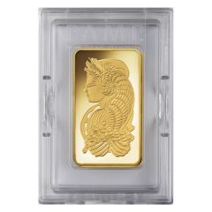 5 oz Pamp Suisse Lady Fortuna Gold Bar In Assay